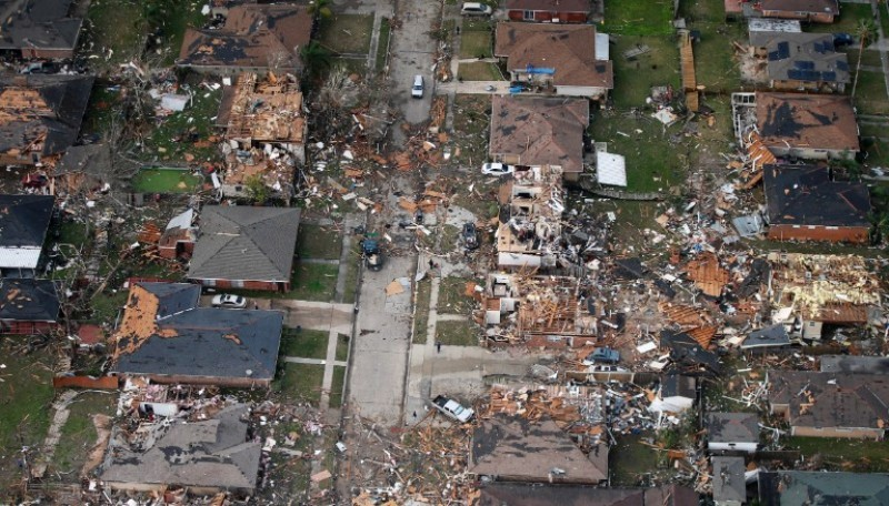Destructions of New Orleans Tornado