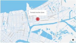 Tornado Touches Down in New Orleans CNN Map