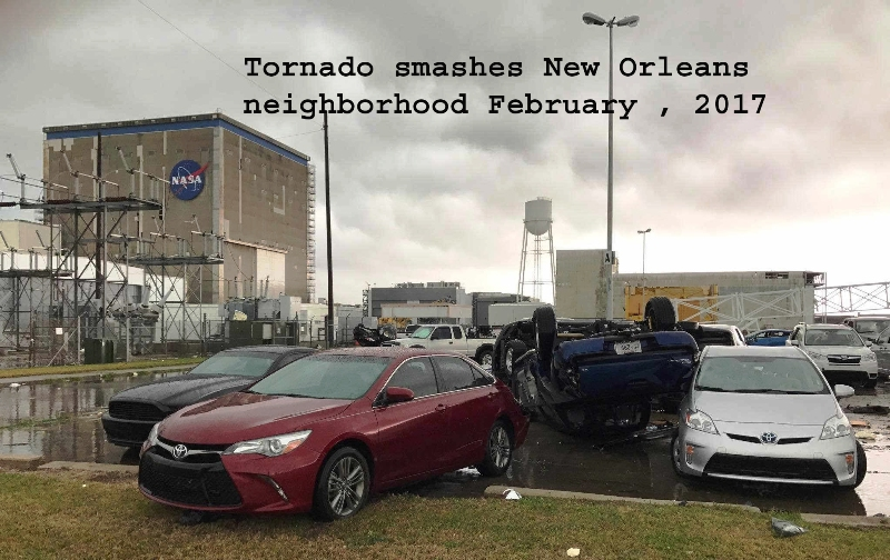 Tornado smashes New Orleans East neighborhood 2017
